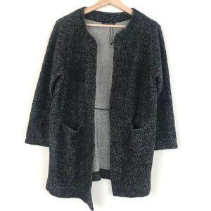 Zara Gray Knit Open Cardigan Jacket